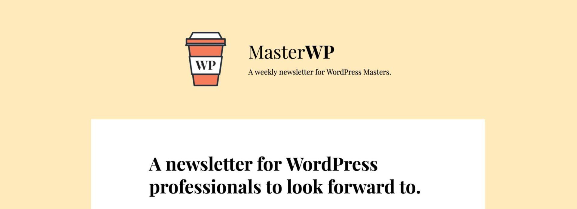 MasterWP newsletter