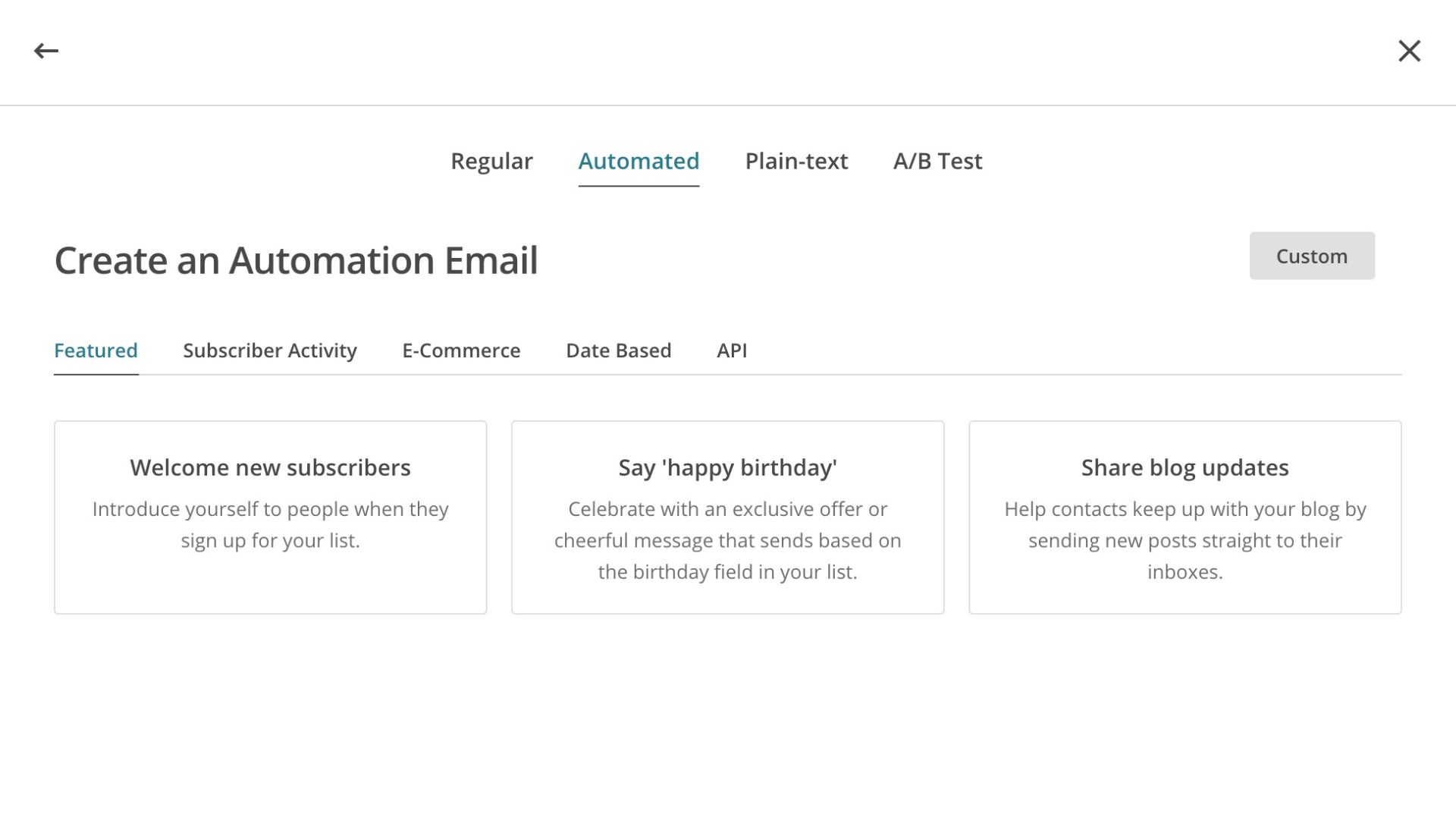 Create an automated email
