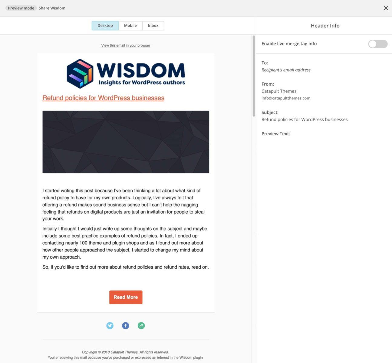 Mailchimp newsletter final