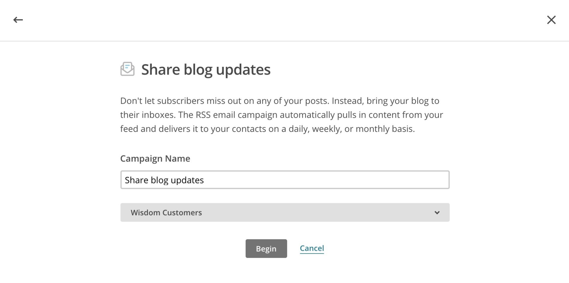 Share blog updates